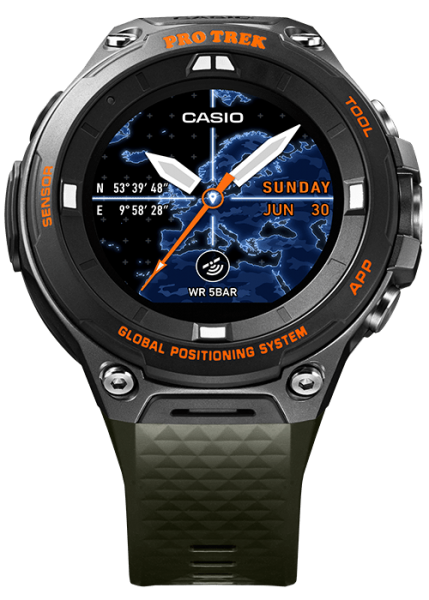 CASIO PRO TREK Smart WSD-F20A Grün