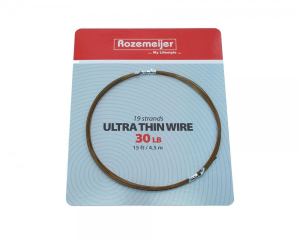 Rozemeijer Ultra Thin Wire 1×19 30 lb | 15 ft / 4.5 m