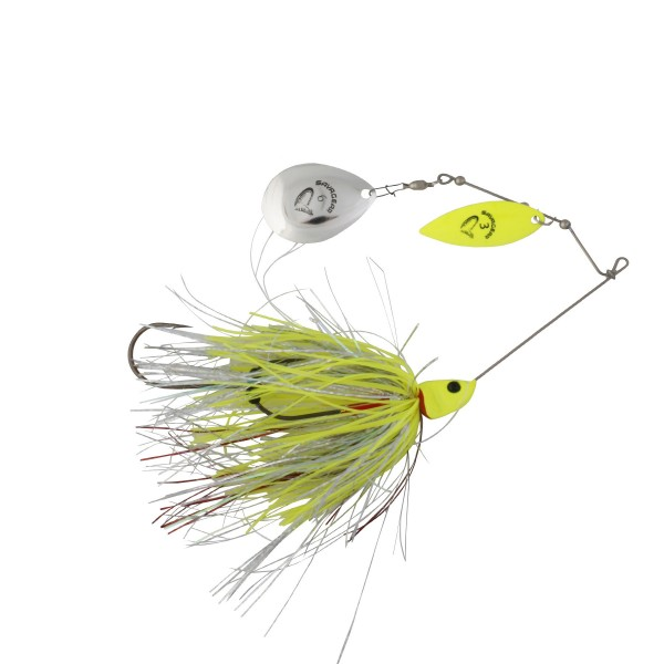 Savage Gear Da'Bush Spinnerbait 42g Yellow Silver Holo Flame