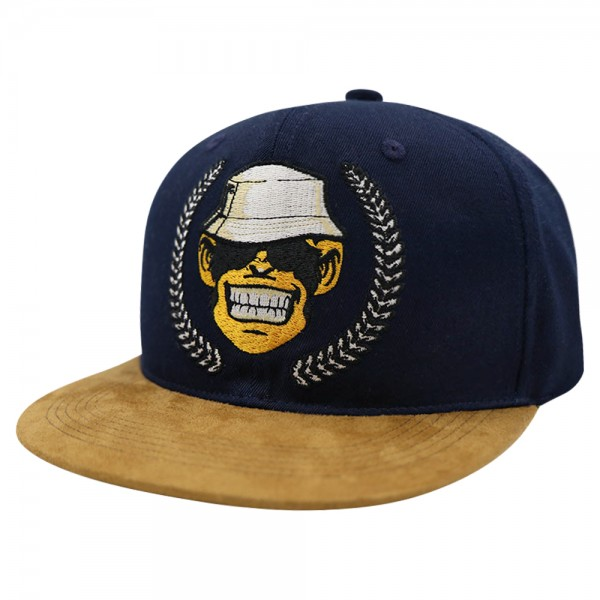 Monkey Lures Snapback Cap Logo navy/braun