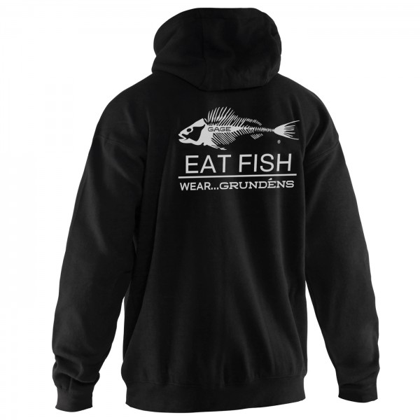 Grundens Eat Fish Hooded Sweatshirt | Black