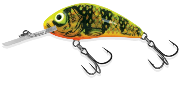 Salmo Rattlin Hornet 3,5 Crankbait Hardbait Hard Bait Wobbler floating yellow holographic perch