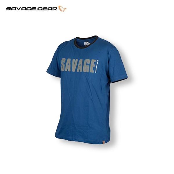 Savage Gear Simply Savage Tee Blue T-Shirt