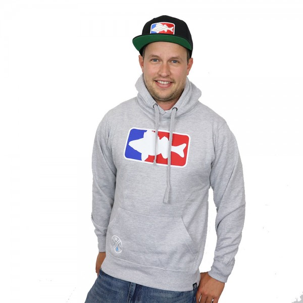 LMAB Hoodie National Fishing League grau