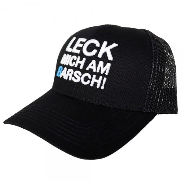 "#LMAB Zipped Stoffjacke /""#LMAB Logo/"" Leck mich am Barsch schwarz"