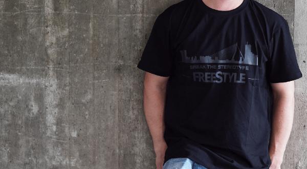 Spro FreeStyle T-Shirt Skyline Break the Stereotype black schwarz front
