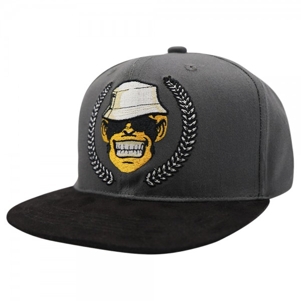 Monkey Lures Snapback Cap Logo grau/schwarz