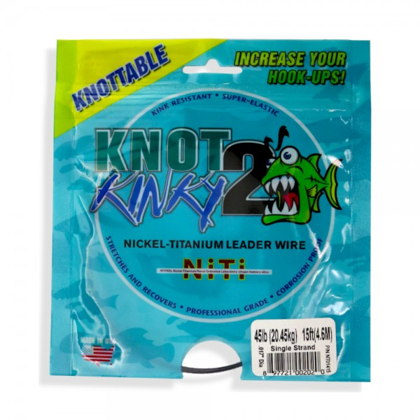 Aquateko Knot 2 Kinky 1x1 Nickel-Titanium Vorfach (4,5m / 15ft)