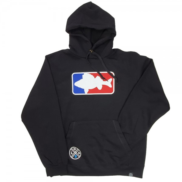 LMAB Hoodie National Fishing League schwarz