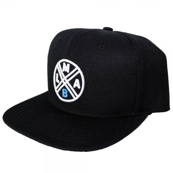 #LMAB Snapback Cap Logo (Schwarz / Weiß)