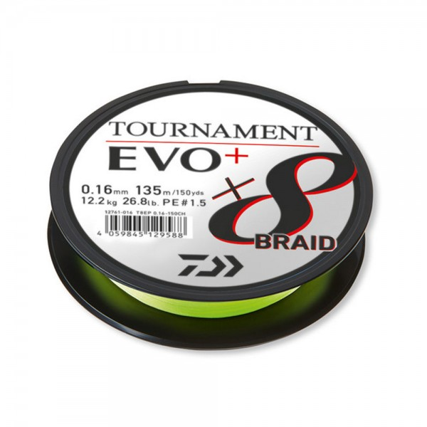 Rolle bespulen mit Daiwa Tournament x8 Evo+ | 125 m | Chartreuse