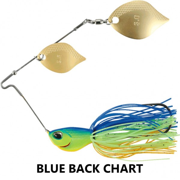 DUO Realis Cambiospin Double Blade 1/4 oz Blue Back Chart