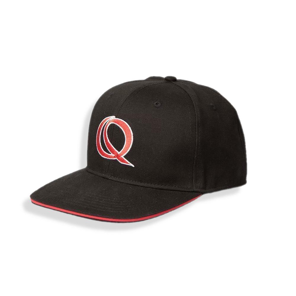 Quantum Rapper Cap schwarz//rot 58 cm Kappe Cappy Mütze Basecap Raubfischangeln