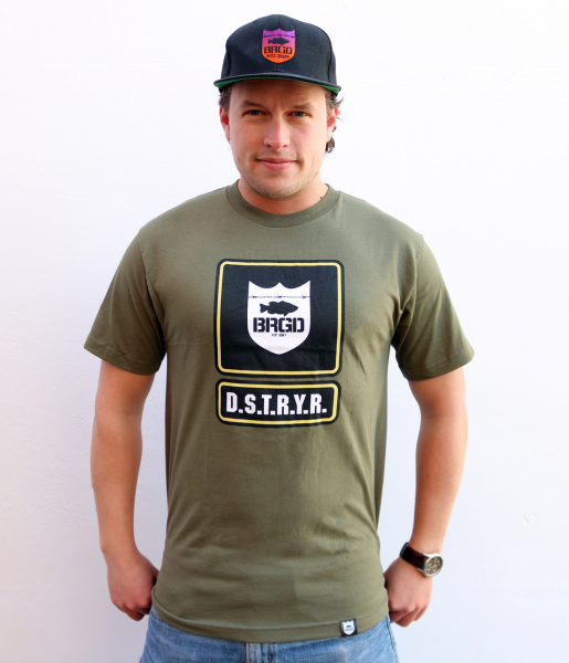 """Bass Brigade T-Shirt """"D.S.T.R.Y.R."""" (grün) - Bootcamp Tee"""