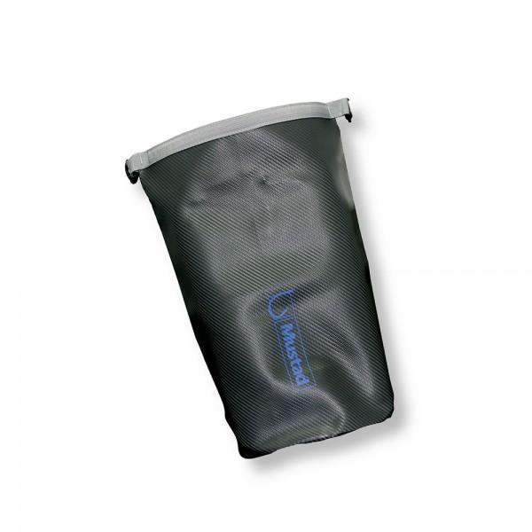 Mustad Dry Bag 20 L Tarpaulin PVC Grey/Blue wasserdichter Sack Angeltasche