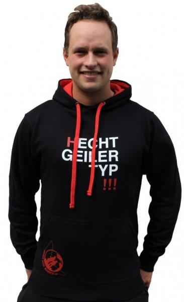 #LMAB Hoodie - Hecht Geiler Typ (Schwarz / Rot)