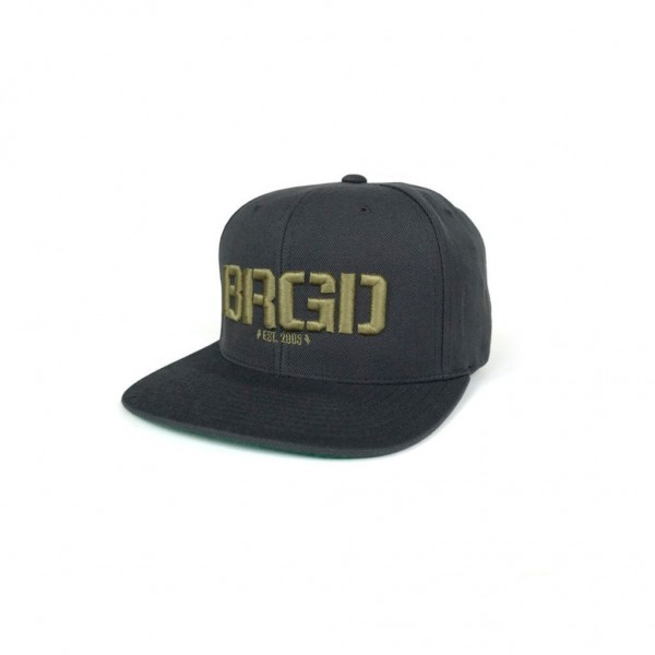 Bass Brigade Logo Snapback dunkelgrau/gold
