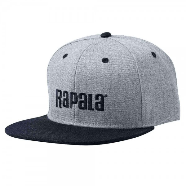 Rapala Flat Brim Cap   Grey / Black