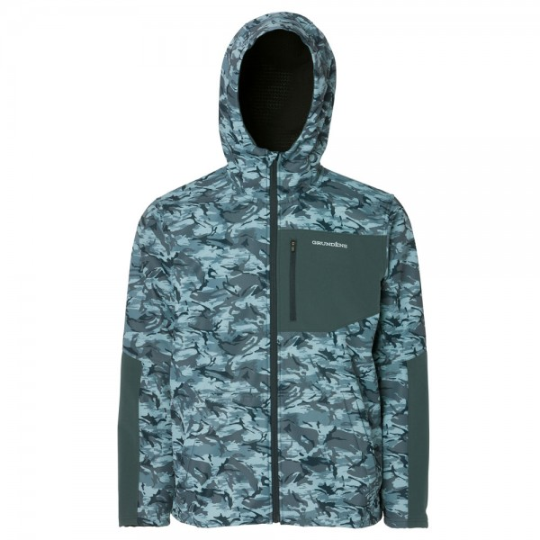Grundens Bulkhead Fleece Hooded Jacket | Dark Slate Camo