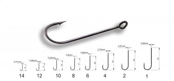 Crazy Fish Round Bent Joint Haken