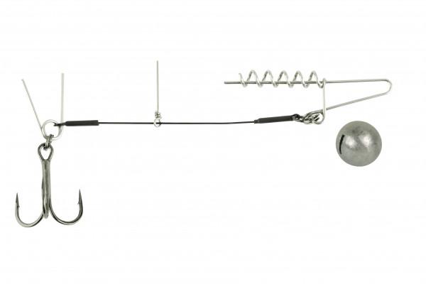Spro Softbait Spiral Stinger Drilling Gamakatsu Rundblei Gewicht Bleigewicht Pin Doppel-Pin Single Spirale Spiral 10g
