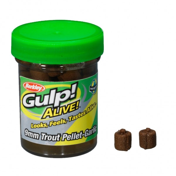 Berkley Gulp Alive Trout Pellet-Garlic 9mm Natural