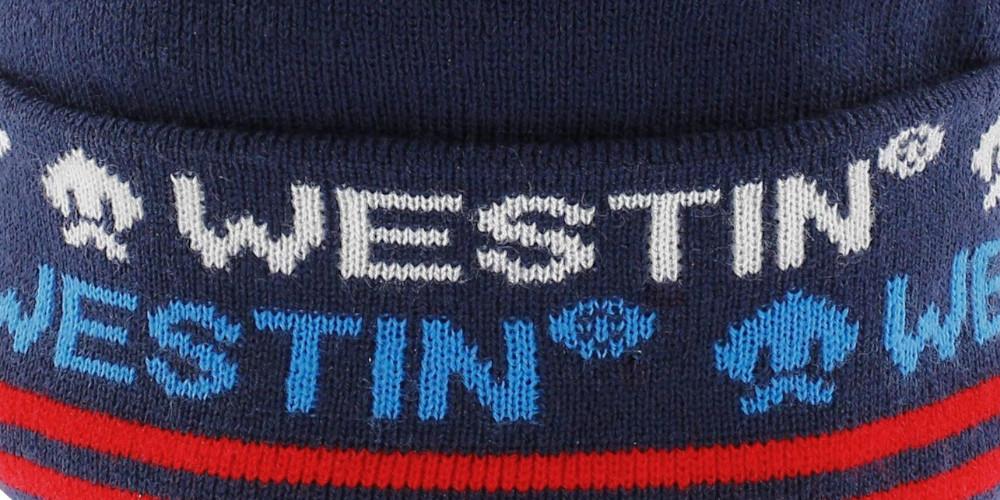 Westin-Snowroller-Beanie-Deep-Blue-Stickarbeit