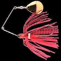 Spro Micro Ringed Spinnerbait 5 Gramm skirt Spinner Bait Kunstköder Blech Spinnerblatt Fransen Fire Claw