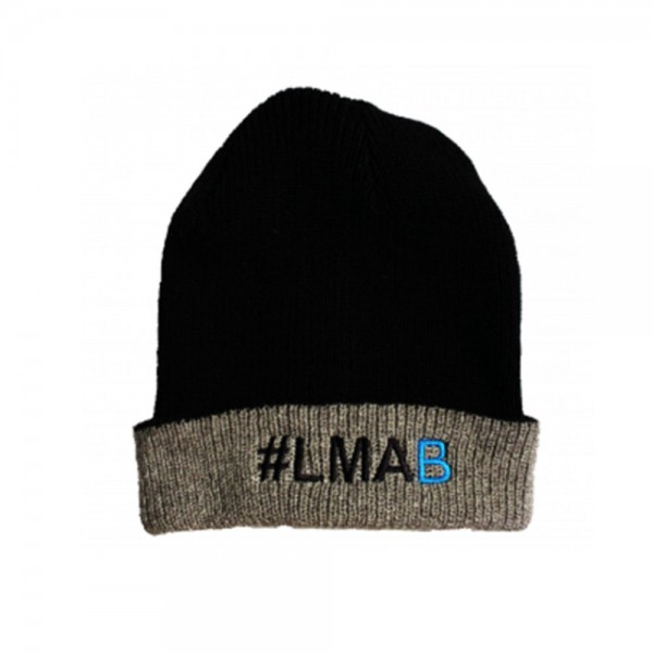 lmab beanie grau/schwarz