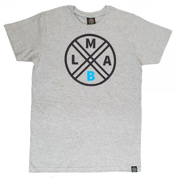lmab logo shirt grau