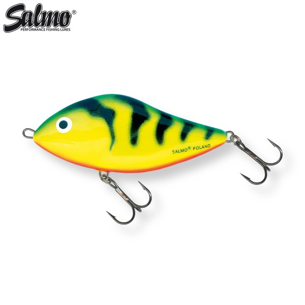 Salmo SD10F Slider 10,0cm 36,0g floating Jerkbait Dekor Green Tiger