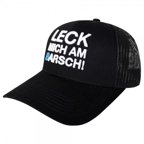 #LMAB Truckercap - Leck mich am Barsch (Schwarz / Weiß)
