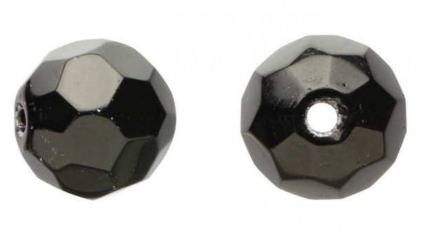 DEKA Glass Beads Black | schwarze Glasperlen