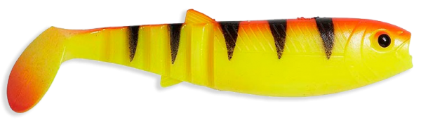 Savage Gear Cannibal Shad 12,5 Gummi Gummifisch Gummiköder Kunstköder Softbait Soft Bait Golden Ambulance