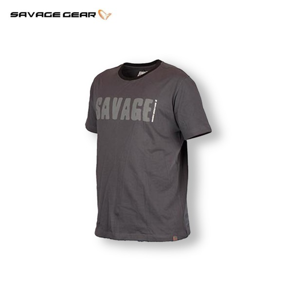Savage Gear Simply Savage Tee Grey | T-Shirt