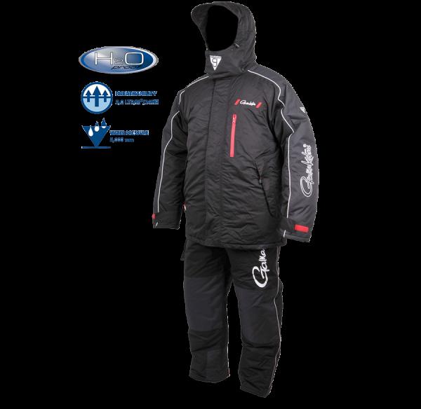 Spro Gamakatsu Hyper Thermal Suit Anzug Winter wasserdicht winddicht super warm Kapuze Hosenträger ultra light Jacke herausnehmbar Frost