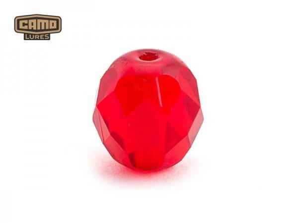 Camo Facettierte Glasperlen Ruby