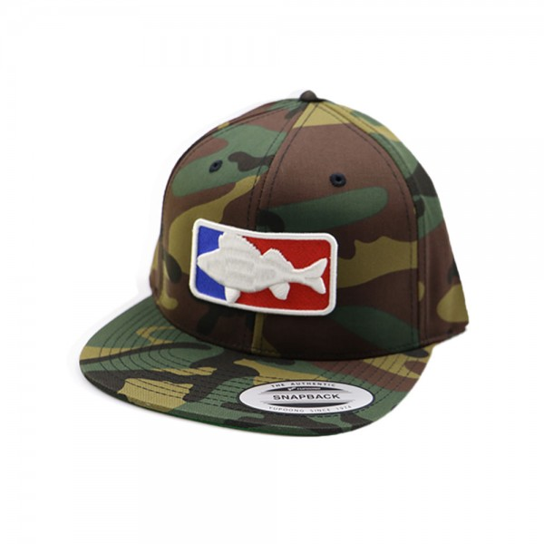 #LMAB Snapback Cap - National Fishing League Logo (Camouflage)