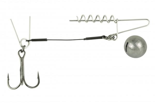 Spro Softbait Spiral Stinger Drilling Gamakatsu Rundblei Gewicht Bleigewicht Pin Doppel-Pin Single Spirale Spiral 5g
