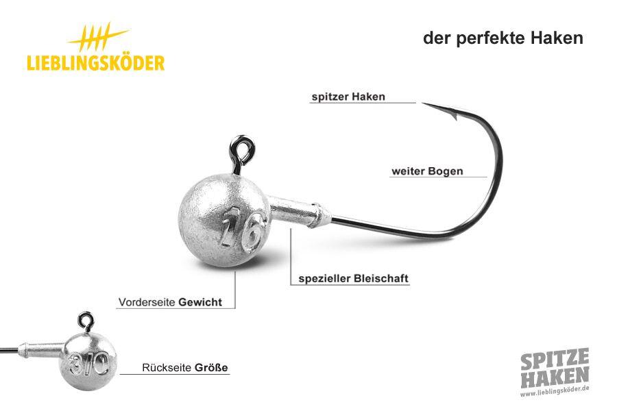 Lieblingsk/öder Spitze Haken #0 3g