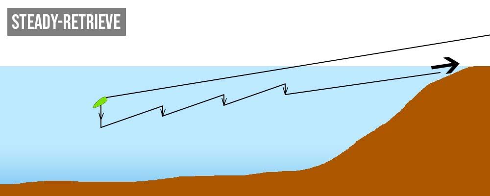 Steady-Retrieve-inkl-Einholstop-Forellenblinker-Methode