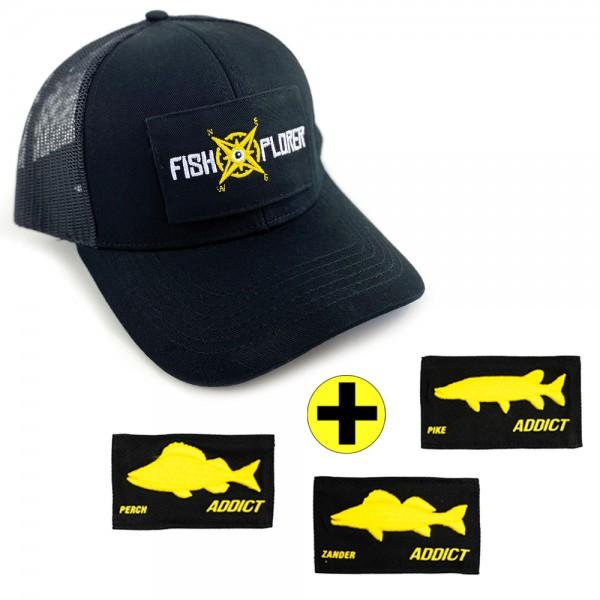 FishXplorer 4 in 1 Scratch Trucker Cap Schwarz