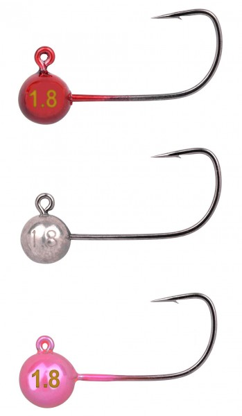 SPRO Tungsten Micro Jighead #2 | Jig 29-2 Natural/Red/Pink