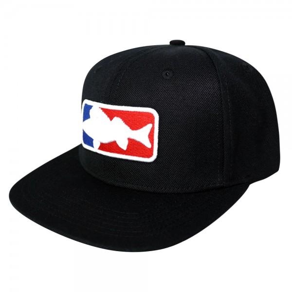 #LMAB Snapback Cap - National Fishing League Logo (Schwarz)
