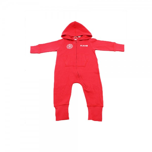 #LMAB Baby-Strampler - #untermaßig (Rot)