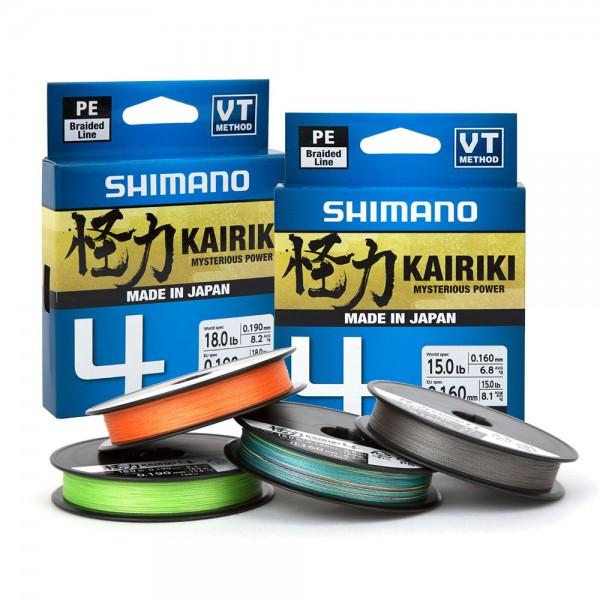 Rolle bespulen mit Shimano Kairiki 4 | 150 m | Orange | Schnurspulservice