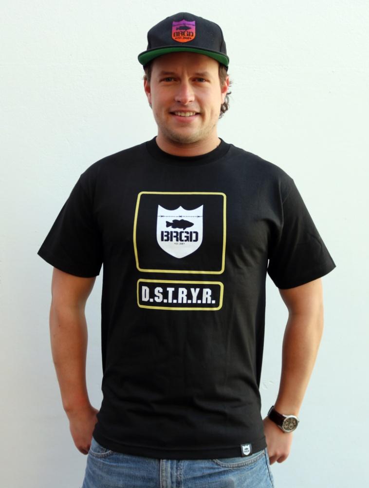 """Bass Brigade T-Shirt /""""BRGD/"""" schwarz//weiß"""