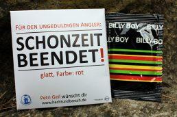 """Kondom für Angler: """"Schonzeit beendet"""" – Für den ungeduldigen Angler"""