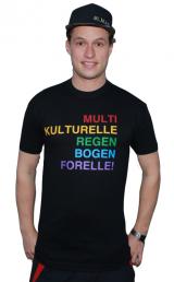 """T-Shirt """"Multikulturelle Regenbogenforelle"""""""
