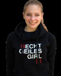 HGG- Hoodie, schwarz-rot